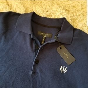 Rag & Bone blue polo new with tags small